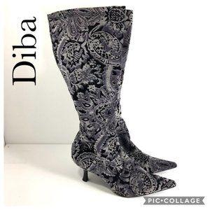 Diba tall upholstery velvet design boots 7B